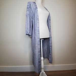 American Eagle Long Striped Duster Cardigan
